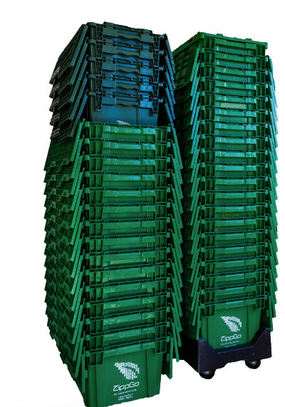 green reusable moving boxes