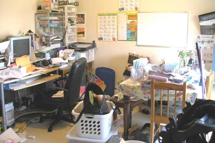 Room showing clutter