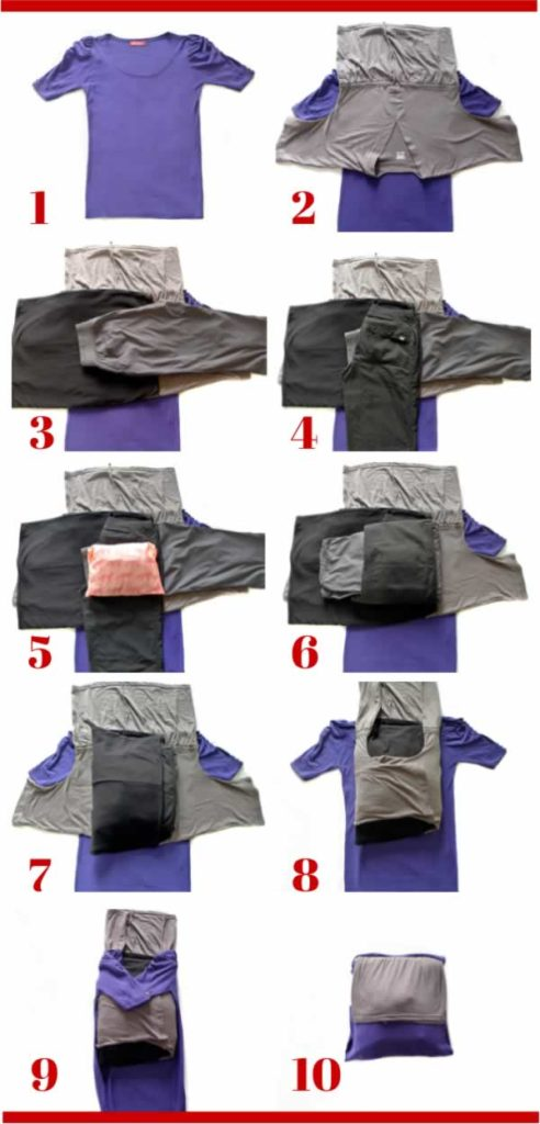 packing clothes bundle wrap